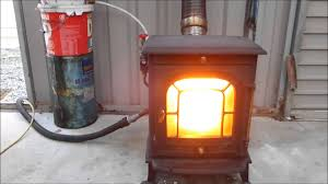 amazing and easy convert your stove to burn waste oil youtube