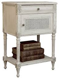 antique nightstands and bedside tables eloquence giverny french country louis xvi antique white caned