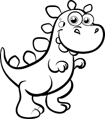 excellent coloring page dinosaur 2 2861