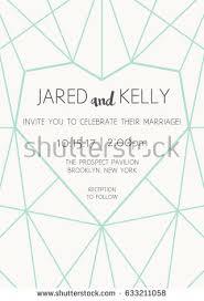 Template For Wedding Program Vector Modern Design Template Wedding Invitation Stock Vector