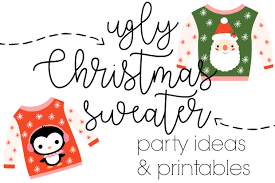 Christmas Sweater Party Ideas - ginger snap crafts ugly christmas sweater party ideas u0026 printables