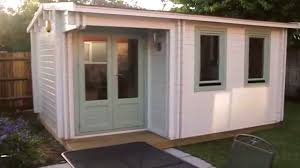 Office In A Shed Building A Garden Shed Summerhouse Youtube