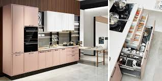 modern kitchen design cupboard colours morandi pink modern kitchen design oppein the largest