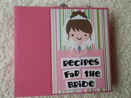 Bridal Shower Photo Album 6x6 Bridal Shower Recipe Book Scrapbook Album