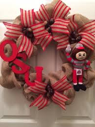 ohio state ribbon ohio state burlap wreath by kellytothscreations on etsy https