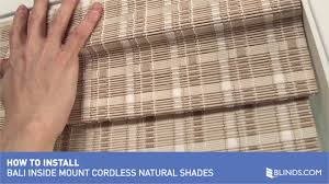 how to install bali cordless natural woven wood shades inside