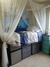Hours Of Bed Bath And Beyond Dream Dorm Room Come To Life Bedding Shelves And Canopy From Bed