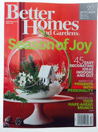 holiday miniature on cover of better homes u0026 gardens sparrow