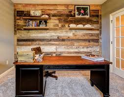 Home Office Designs 25 Ingenious Ways To Bring Reclaimed Wood Into Your Home Office