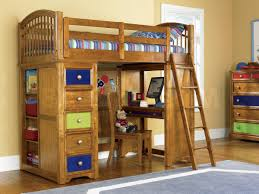 Bunk Bed With Desk And Trundle How To Build A Loft Bunk Bed With Desk Modern Loft Beds
