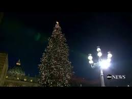 vatican tree lighting
