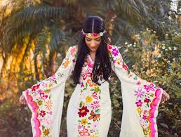 mexican wedding dress 2 week rental woodstock caftan wedding dress mexican embroidery