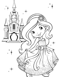 printable princess coloring pages 446 strawberry shortcake