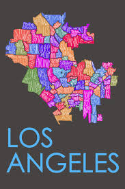 Portland Neighborhood Map Poster by Los Angeles Neighborhood Type Map Posters Prints