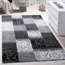 teppiche wohnzimmer teppich wohnzimmer kariert abstrakt grau