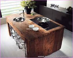 pallet kitchen island pallet kitchen islands buffet tables pallet wood projects