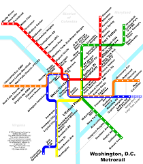 Washington Dc Attractions Map Washington D C Metro Map Visual Ly