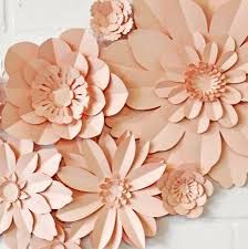 paper flowers set of 11 handmade paper flowers by may contain glitter