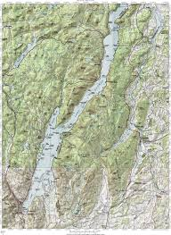 What Is A Topographic Map Interstate 87 The Adirondack Northway Lake George Topographic Map
