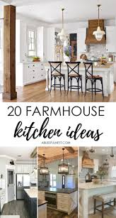 Furniture Style Kitchen Cabinets 20 Farmhouse Kitchen Ideas For Fixer Style Industrial Flare