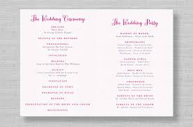 wedding ceremony program modern wedding reception program galleries diy wedding 19791