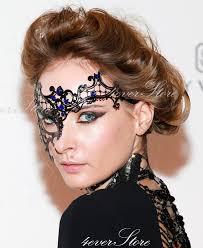 laser cut masquerade masks black phantom half laser cut venetian masquerade mask with
