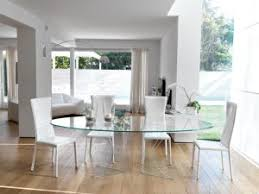 Oval Glass Dining Table Unico Modern Oval Infinity Glass Dining Table Choice Of Size And