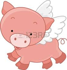 flying pig clipart clipart collection flying pig set stock