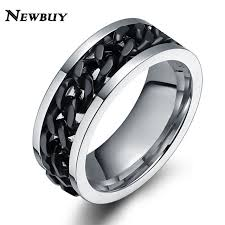 Best Metal For Mens Wedding Ring by Aliexpress Com Buy Newbuy Fashion Chain Ring For Men Three