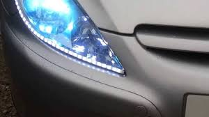 Auto Led Strip Lights by Car Led Strips U0026 Hid Headlights Plus Footwell Led Lights Youtube