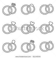thin line wedding ring black vector wedding rings thin line stock vector 511146355