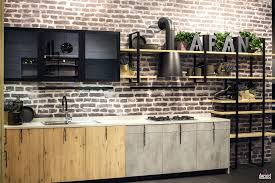 kitchen style black glass cabinet doors natural wood open shelves black glass cabinet doors natural wood open shelves modern industrial single wall kitchen ideas