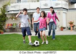 Backyard Football Free Stock Photography Of Happy Family Playing Football In Their