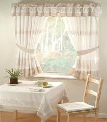 bay window kitchen curtains