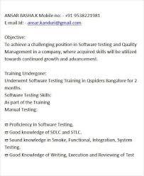 Manual Testing Fresher Resume Samples Manual Testing Resume Format Qa Tester Video Game Resume Manual