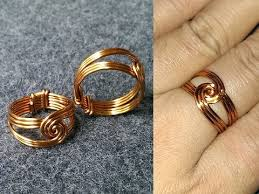 gold wire rings images How to make wire twisted round ring handmade copper jewelry 132 jpg