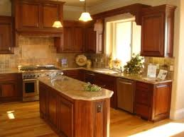 Kitchen Floors With Cherry Cabinets Hickory Floors With Cherry Cabinets Photo Shows Light Counters
