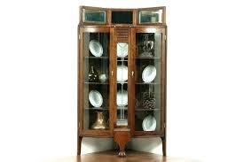 curved corner curio cabinet contemporary corner curio cabinet corner curio cabinet black with