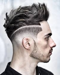 undercut with shaggy quiff hairstyle fade haircut