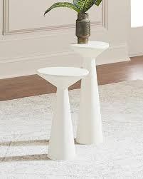 white pedestal side table of napoli white pedestal side tables