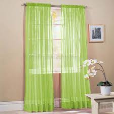 slot top lime green voile net curtain panel net curtains green