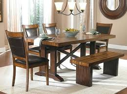Rustic Dining Tables With Benches Dining Bench And Table Set U2013 Mitventures Co