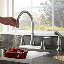 stainless steel glenfield 2 handle kitchen faucet f 036 4gfs