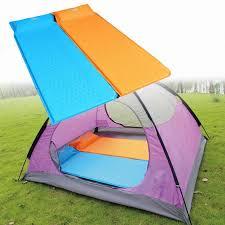 Comfortable Camping Self Inflate Camping Mat Inflatable Pillow Sleeping Bag Cushion