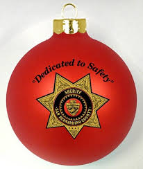 sheriff fundraiser custom ornaments