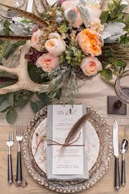 wedding table settings 55 eye catching feather wedding ideas for 2016