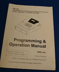 er 150 programming and operation electronic cash register manual