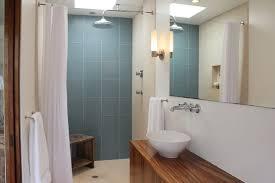 blue glass tile shower houzz