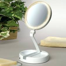 lighted travel makeup mirror 15x floxite lighted mirror lighted makeup mirror floxite 15x lighted