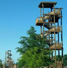 Backyard Zip Line Without Trees by Zip Line Design Consultant